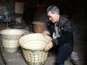 Baskets made of bamboo for holding crops