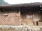 The walls of the houses of Mashan villagers are made of bamboo